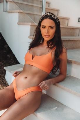 Vana Europe Bella Citrus Orange V Bikini Bottoms