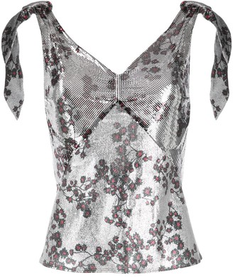 Paco Rabanne Metallic Sequin Sleeveless Top