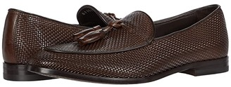 Canali Printed Woven Loafer (Brown) Men's Shoes