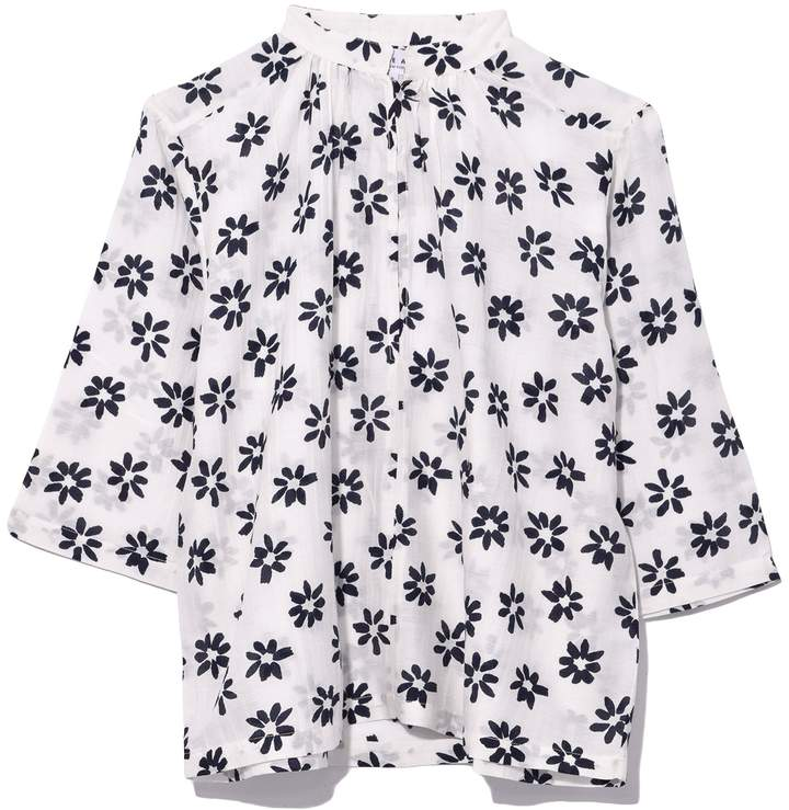 Apiece Apart Shirred Agata Top in Papyrus Flower