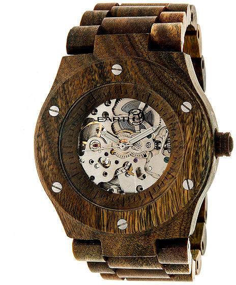 Earth Wood Grand Mesa Automatic Olive Bracelet Watch ETHEW3104