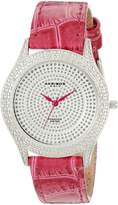 Akribos XXIV Women's AKR464PU Brillianaire Diamond Purple Swiss Quartz Strap Watch