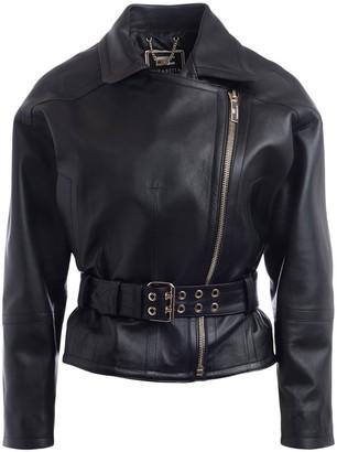 Elisabetta Franchi Jacket In Black Leather