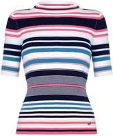 Yumi Stripe Knit High Neck Top