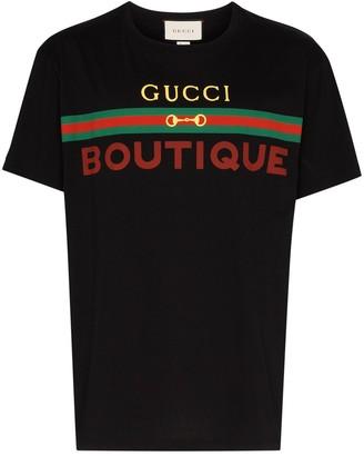 Gucci Boutique logo print T-shirt
