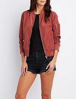 Charlotte Russe Zip-Up Bomber Jacket