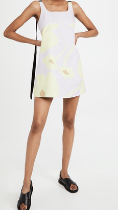 Lee Mathews Aster Scoop Back Mini Dress