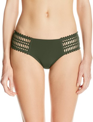 Robin Piccone Women's Sophia Crochet Tab Side Bikini Bottom