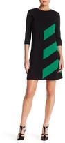 Taylor 5880M Jewel Neck Ponte A-line Dress
