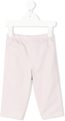 BURBERRY KIDS Check Turn-Up Cotton Trousers