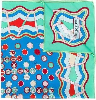 Emilio Pucci Shell Print Silk-Twill Scarf