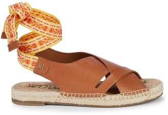 Sam Edelman Alisha Ankle-Tie Leather Sandals
