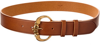 Celine Medium Camarat Buckle Leather Belt