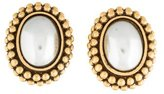 Saint Laurent Faux Pearl Clip-On Earrings