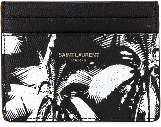 Saint Laurent Credit Card Case in Black & White | FWRD