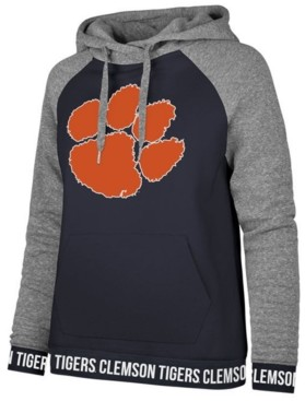 '47 Women's Clemson Tigers Encore Revolve Hooded Sweatshirt