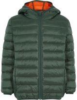 River Island Boys green puffer coat