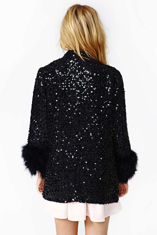 Nasty Gal Night Shine Coat