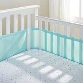 BreathableBaby Mesh Crib Liner, Aqua Mist by