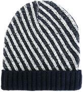 Julien David diagonal striped beanie