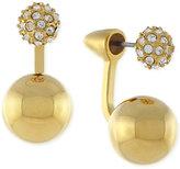 Vince Camuto Gold-Tone Pavé Double Sphere Ear Jackets