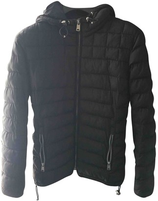 Napapijri Black Leather Jacket for Women