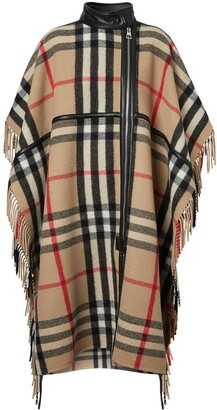 Burberry Check Zip-Front Cape