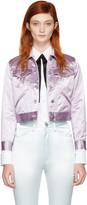 Marc Jacobs Purple Classic Satin Jacket