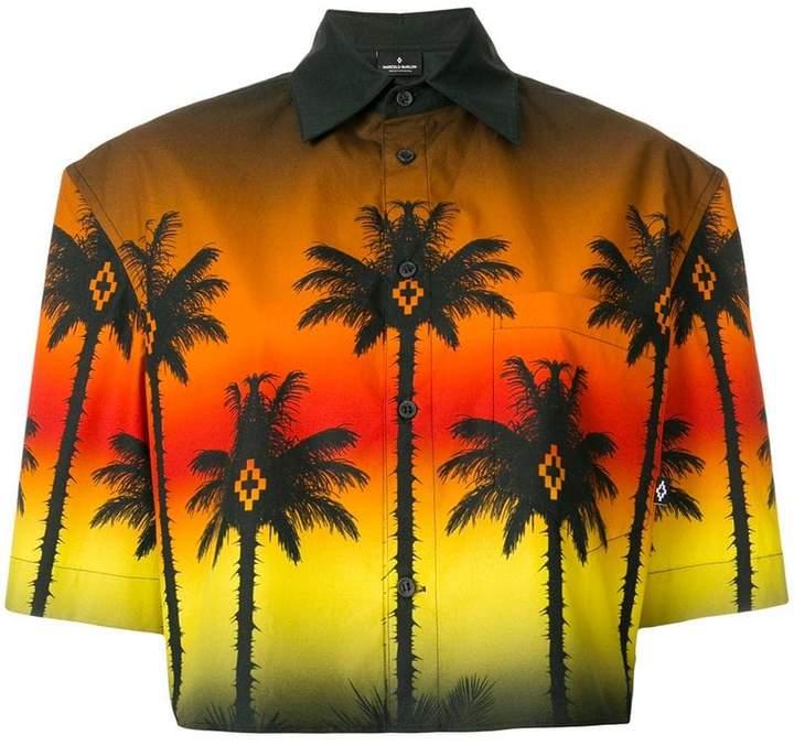 Marcelo Burlon County of Milan cropped palm tree shirt