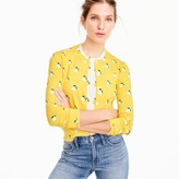 J.Crew Cotton Jackie cardigan sweater in lemon print
