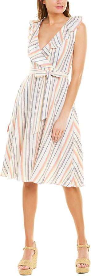 Gabby Skye Linen-Blend A-Line Dress