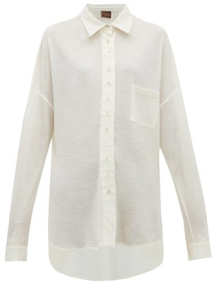 Woolmark Albus Lumen - X Solis Merino Wool Shirt - Womens - Cream