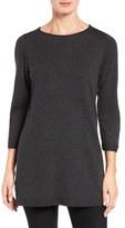 Eileen Fisher Women's Merino Wool Jersey Tunic Sweater