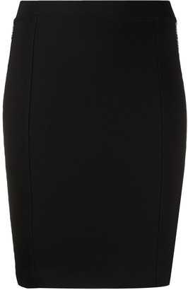 Calvin Klein Jeans Logo Tape Pencil Skirt