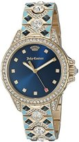 Juicy Couture Women's 1901403 Malibu Analog Display Japanese Quartz Blue Watch