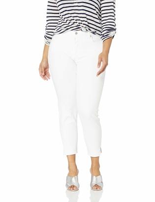 NYDJ Women's Plus Size AMI Skinny Ankle Jean with Slit