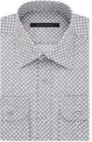 Sean John Classic/Regular Fit Men's Classic-Fit Gray Dot-Print Dress Shirt