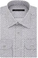 Sean John Classic/Regular Fit Men's Classic-Fit Gray Dot-Print Dress Shirt