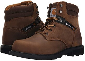 Carhartt Traditional Welt 6 Steel Toe Work Boot (Crazy Horse Brown Leather) Men's Work Boots