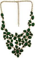 Emerald Facet Bib Necklace
