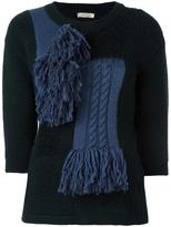 Nina Ricci scarf panel knit jumper