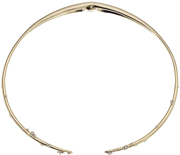Alexis Bittar Satellite Crystal Spike Hinged Collar Necklace Necklace