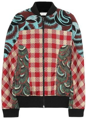 Dries Van Noten Jacquard bomber jacket