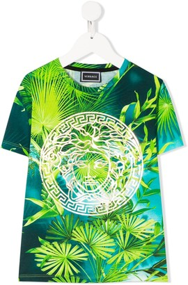 Versace foliage logo print T-shirt