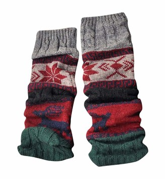 Ashui Winter Warm Leg Warmers Cable Knit Knitted Crochet High Long Socks Leggings Boot Socks Cuffs Ankle Leg Warmers