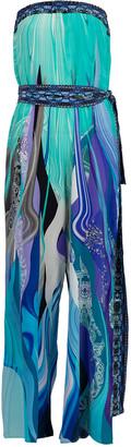 Camilla Tie Waist Strapless Jumpsuit