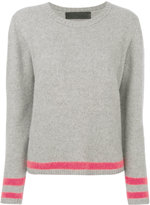 The Elder Statesman contrast stripe cashmere jumper - women - Cashmere - S