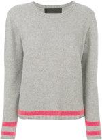 The Elder Statesman contrast stripe cashmere jumper