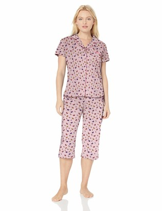 Karen Neuburger Women's Plus Size Short-Sleeve Pajama Set PJ with Moisture Wicking Technology