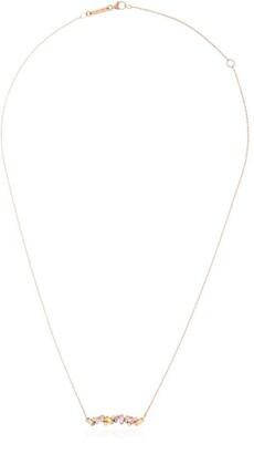 Suzanne Kalan 18kt rose gold diamond sapphire Rainbow Firework necklace